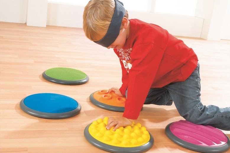sensory play tactile disks