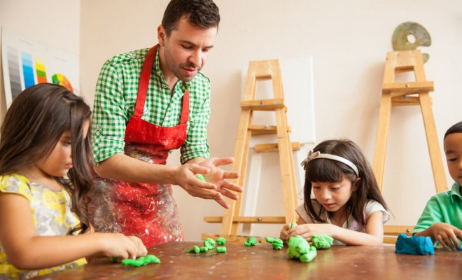 men in childcare
