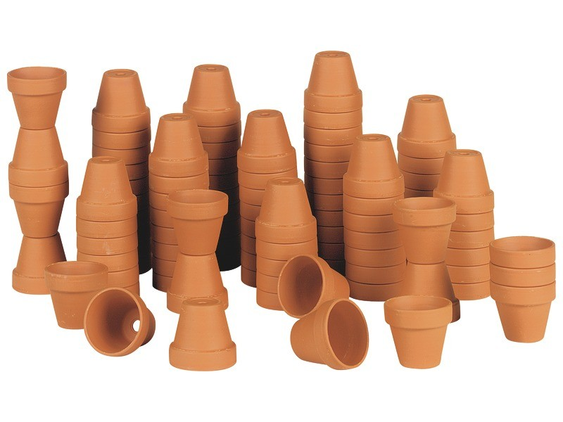 plant pots -outdoor play