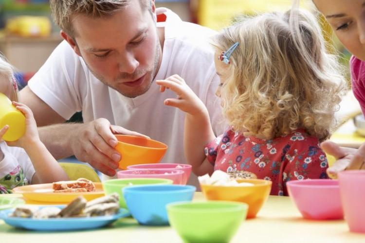 men in childcare setting