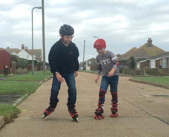 adrian voce children-rollerblading
