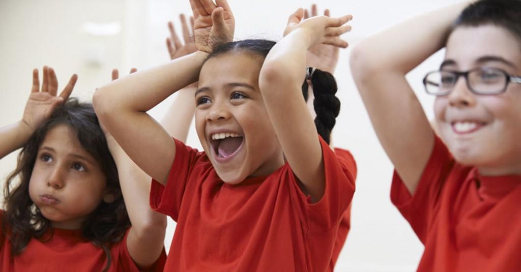 43392459 – group of children enjoying drama class together
