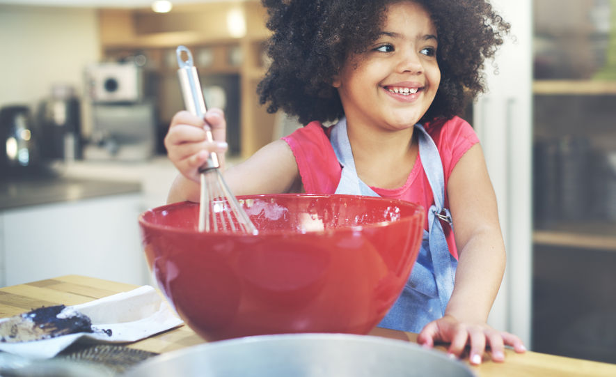 53072744 – children cooking happiness activitiy home concept