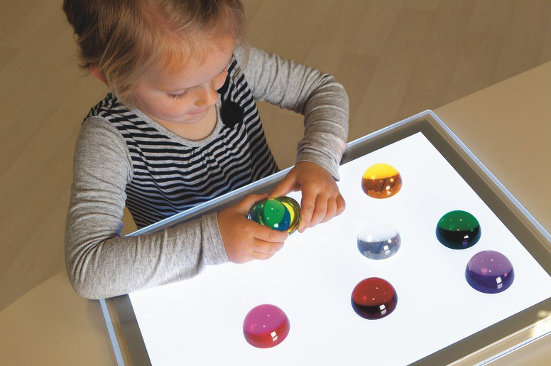 Sensory Play- light table from wesco