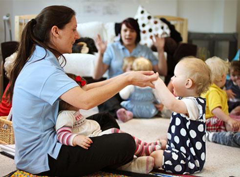 staff at one of sarah steel's nurseries