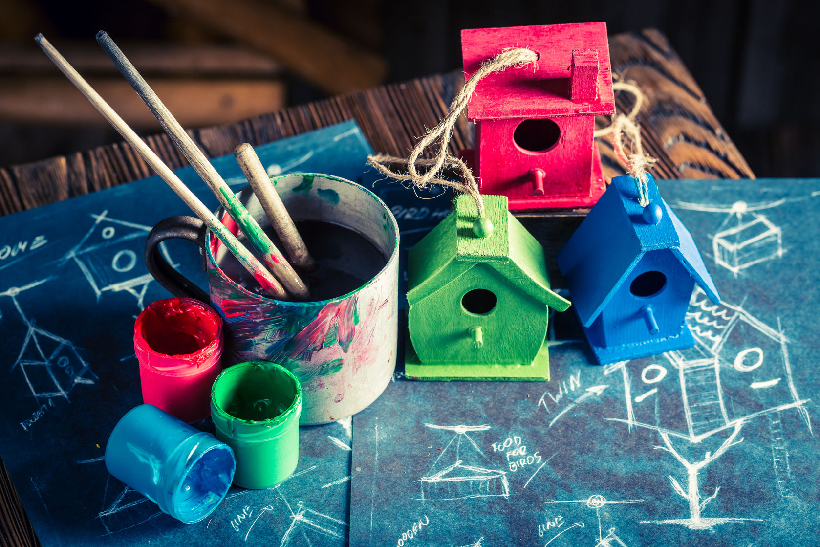 Winter Crafts Ideas Bird House