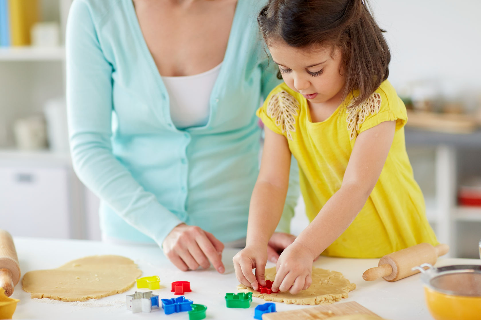 Numeracy Skills - Cooking with a child can help improve measuring and counting skills