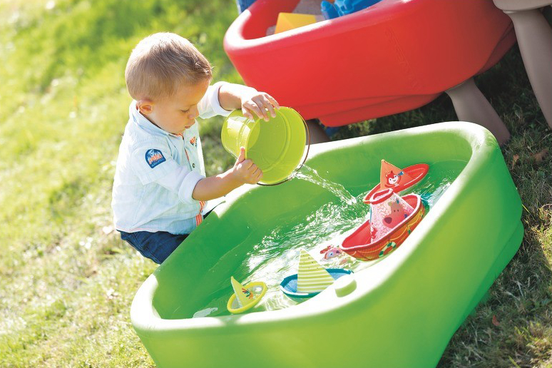 Nature activities for kids - water and sand materials are great way for children to experience natural materials