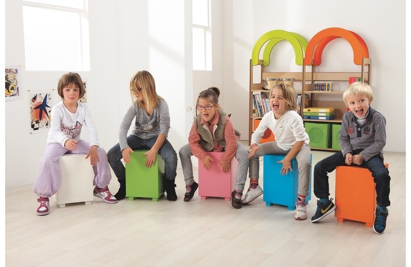 Best musical toys - Children using a cajon