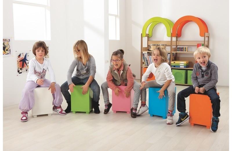 Best musical toys - Children using a cajon