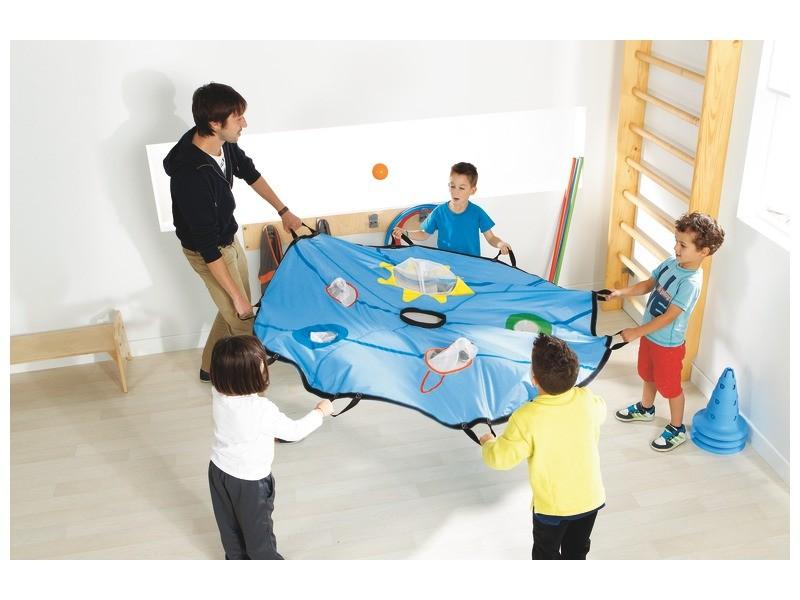 child motor skills development - Indoor Parachute Game