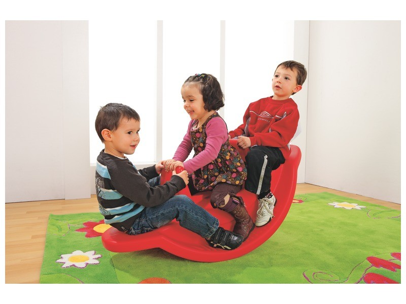 child motor skills development - Three-seater rocker
