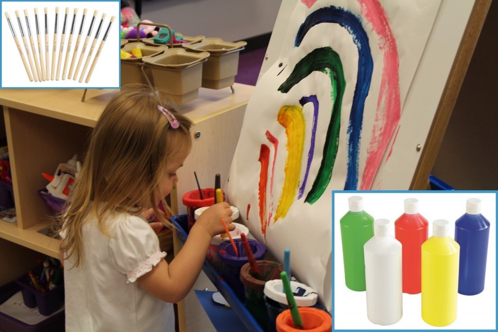 Child Independence Activities - Self-Service Painting
