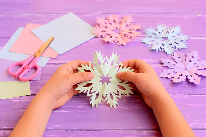 Easy Paper Crafts for Kids - Snowflakes